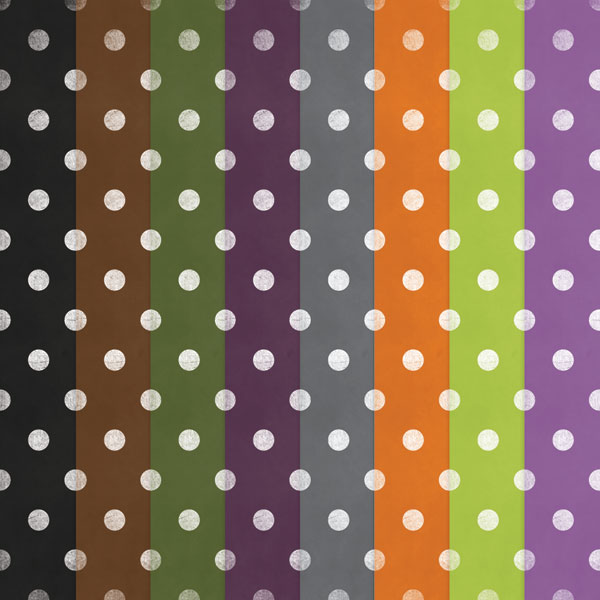Free Printable Polka Dot Halloween Papers Digital Card Fun
