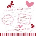 Butterfly Valentine Stamp/Clip Art Set