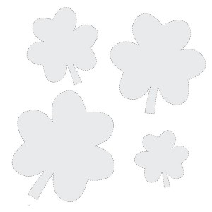 Shamrock Printable Pattern Shape Set