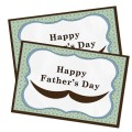 Printable Happy Father's Day Card with Mustache