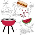 The Grill Is Hot BBQ Stamp Set