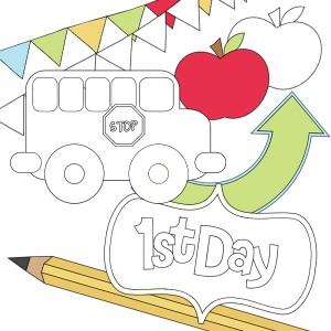 First Day Of School Printable Stamps or Stickers