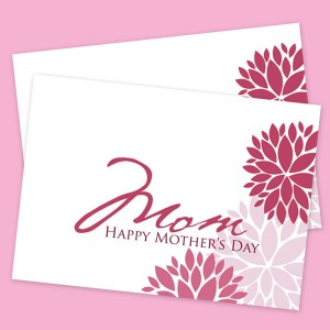 Elegant floral printable mother 39 s day card digital card fun for Classy mothers day cards