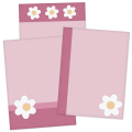 Flower Card Template Set 1