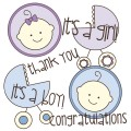 Baby Stamp Set Printable Stickers