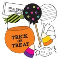 Trick or Treat Candy Digital Stamps