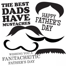 Father's Day Printable Digital Mustache Stamps